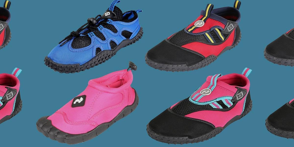 A selection of water sport shoes for SUP
