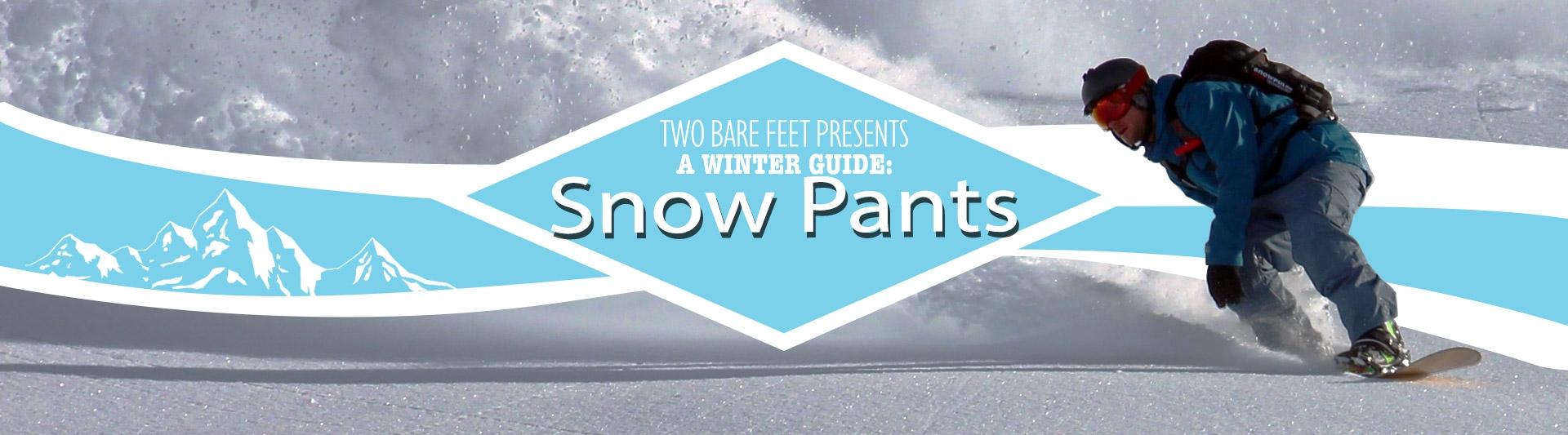 Men's snow pants banner