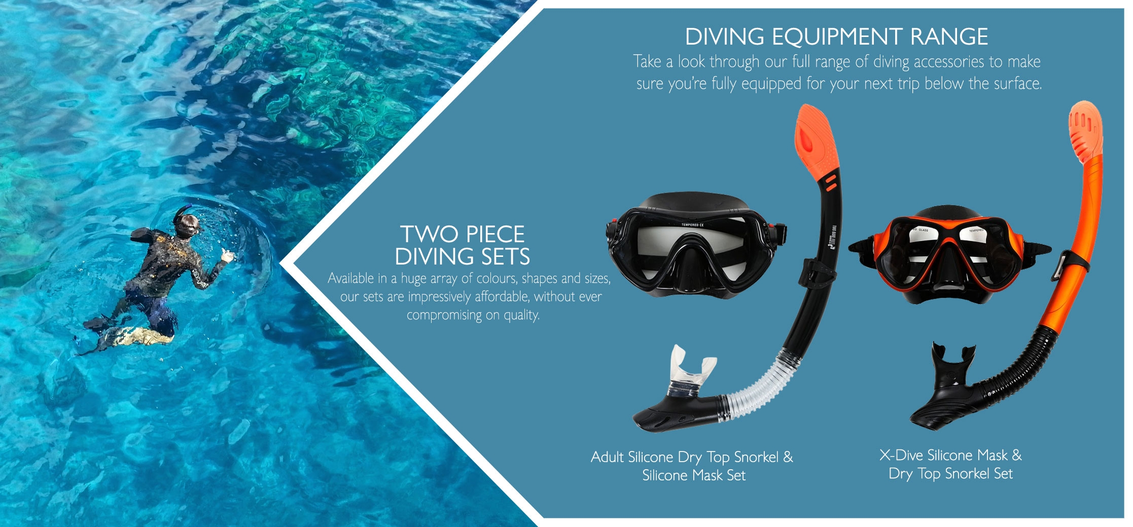 adults snorkel and mask diving sets