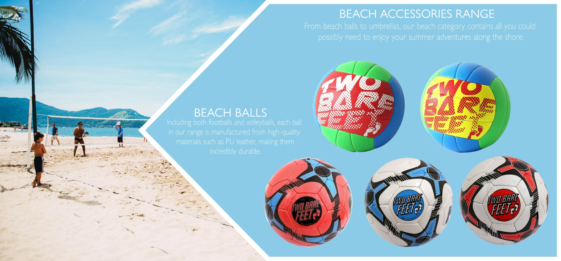 beach football and volleyball