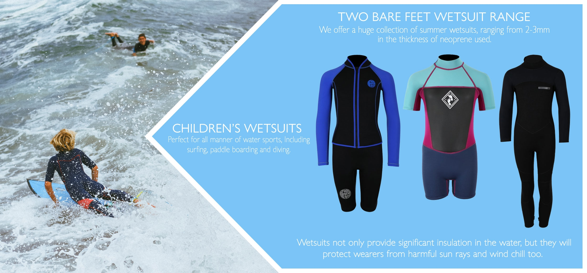 Children's wetsuits information