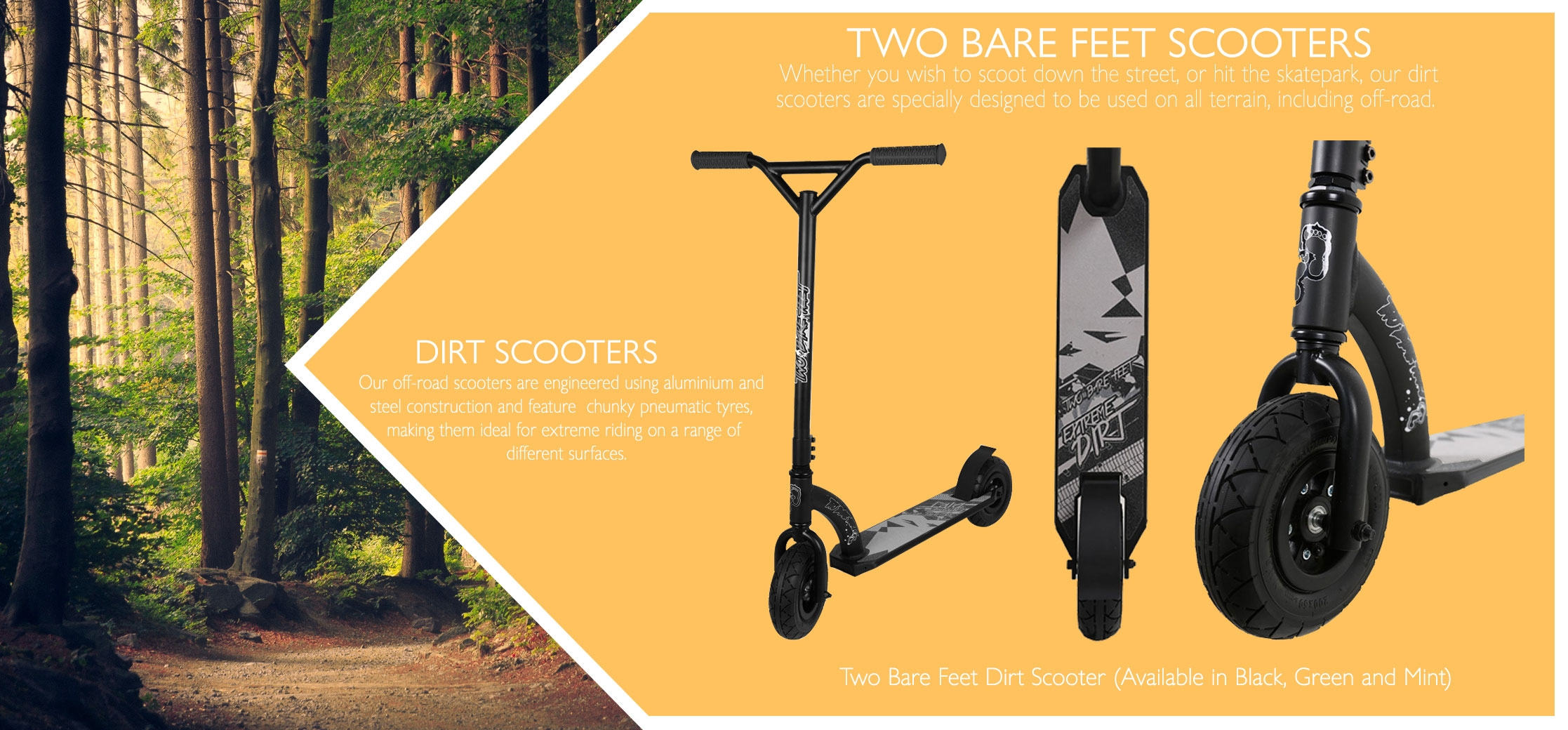Dirt scooters info