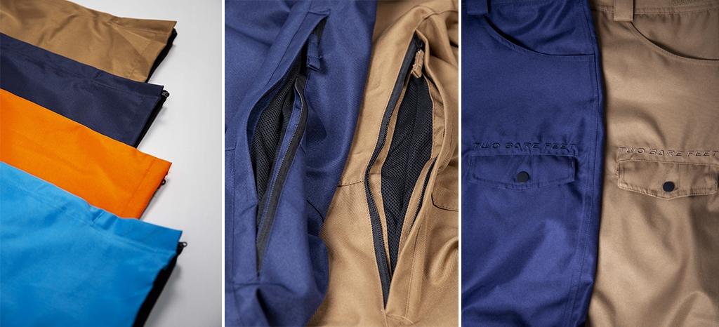 Men's endurance ski trousers features