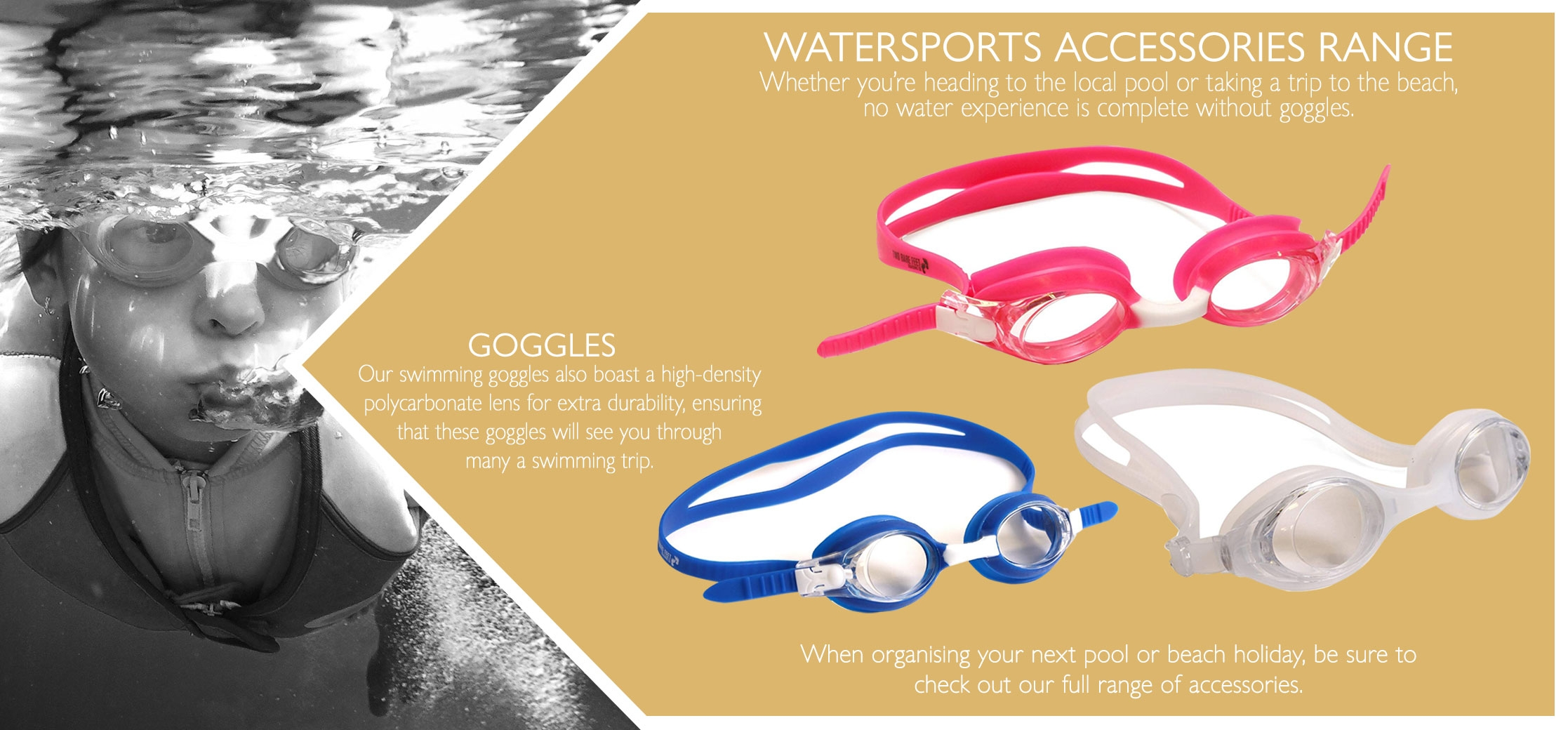 beach swimming goggles