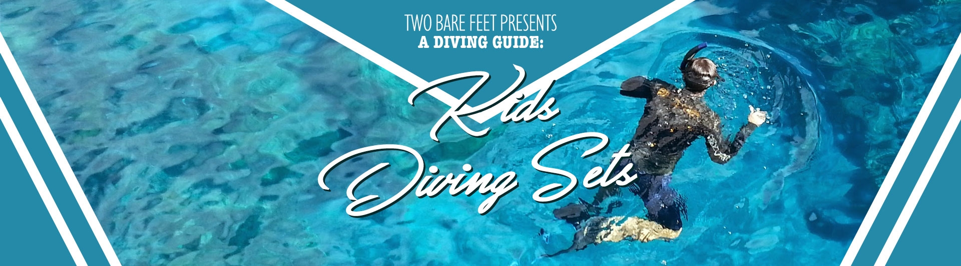 kids silicone diving set banner