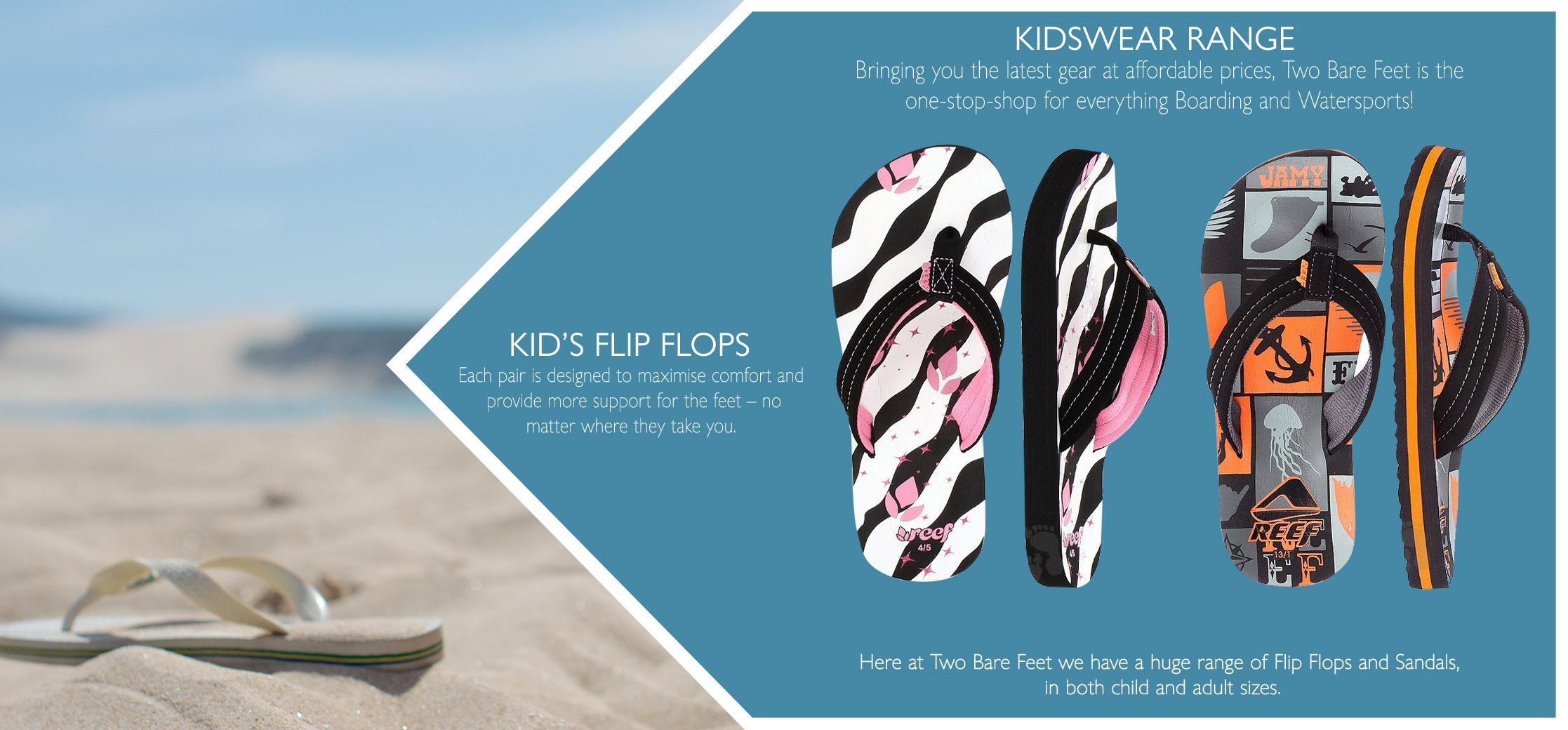 Types of kid's flip flops
