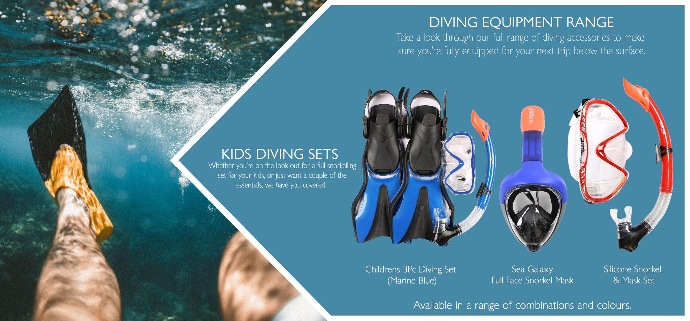 Kids diving sets variations