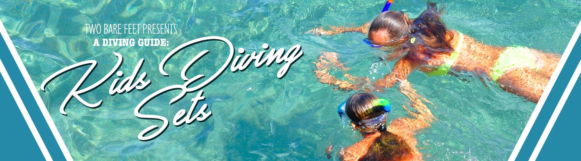 Kids diving sets banner