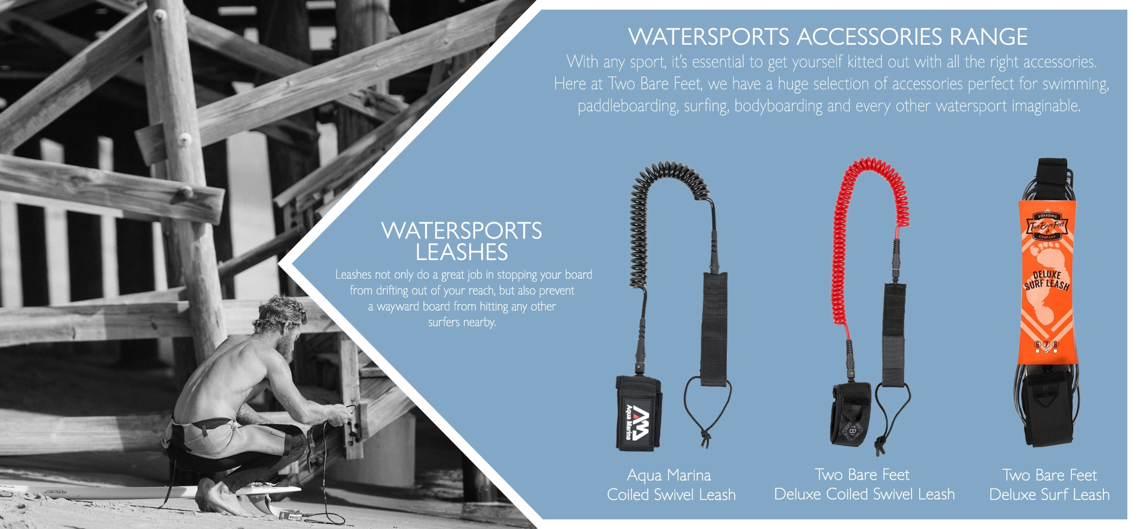 paddle board and surf leash