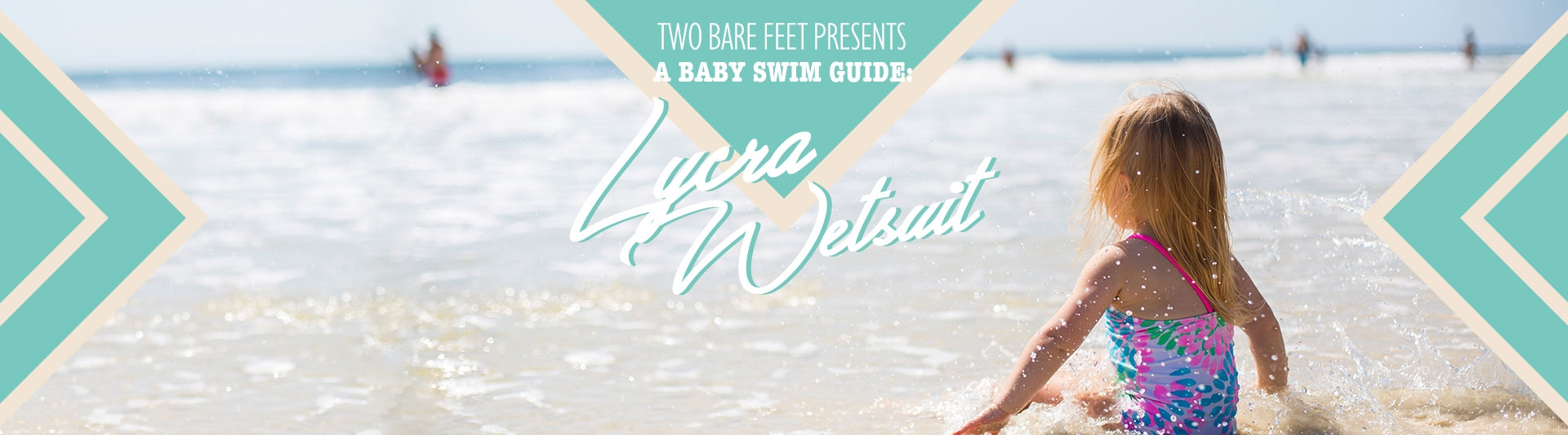 Lycra baby wetsuit banner