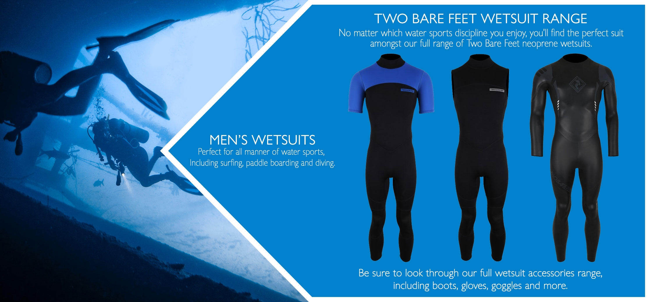 men's full and short wetsuits