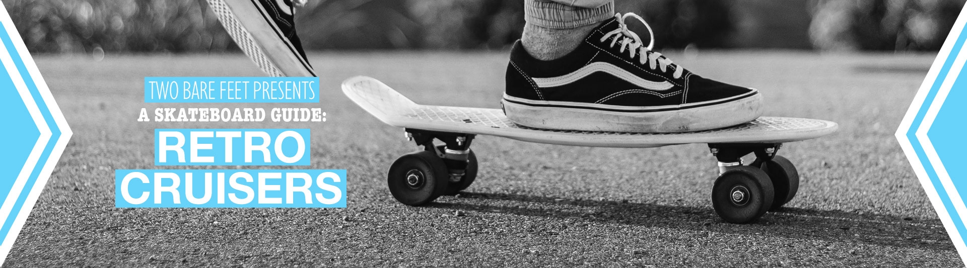 Retro cruiser skateboard banner