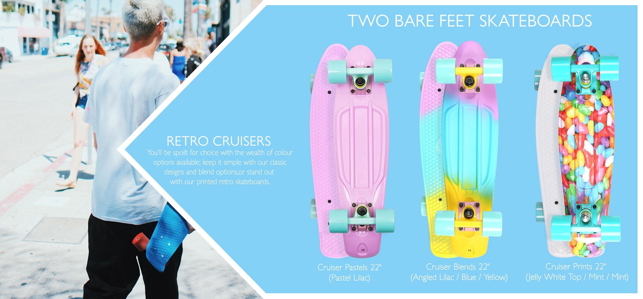 Retro cruiser skateboard variations