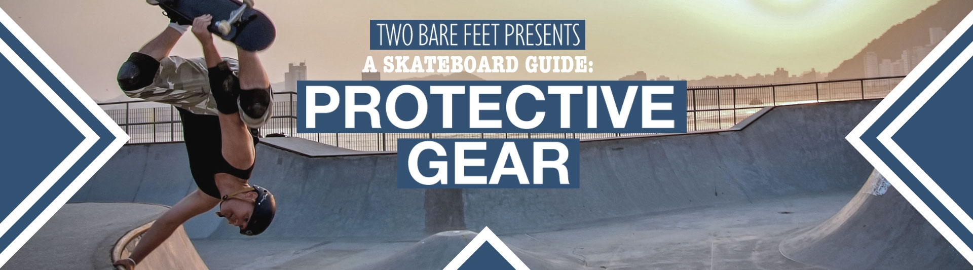 Skate protective gear banner