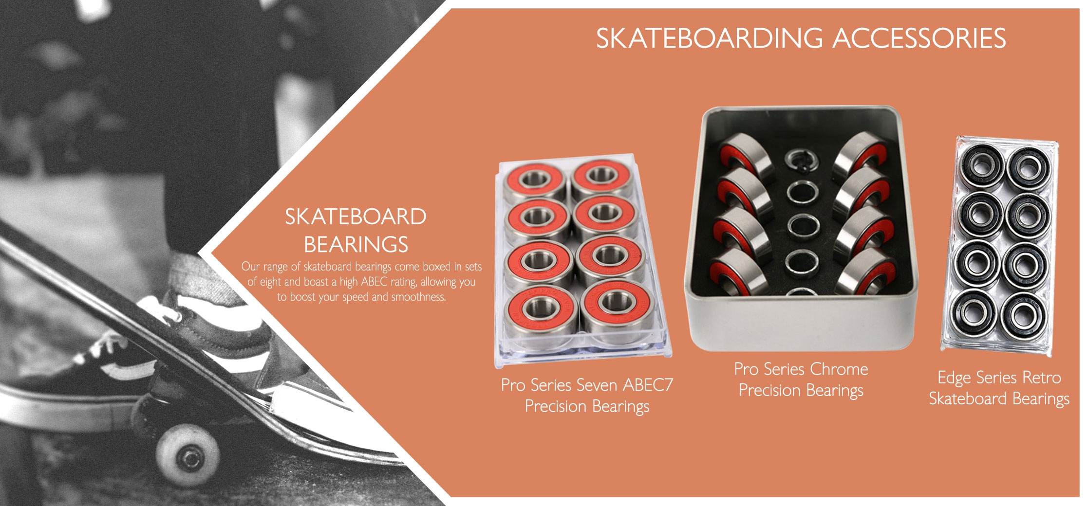 Skateboard bearing variations