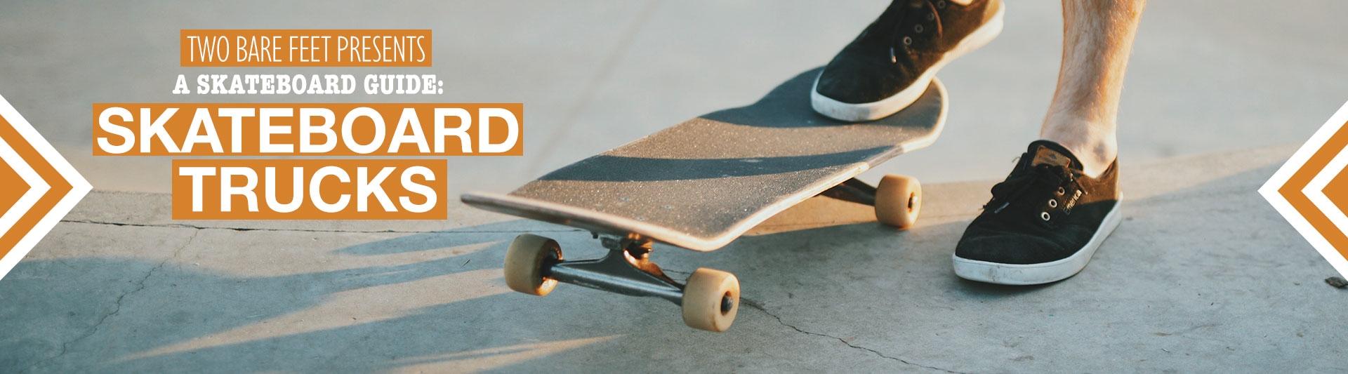 Skateboard trucks banner
