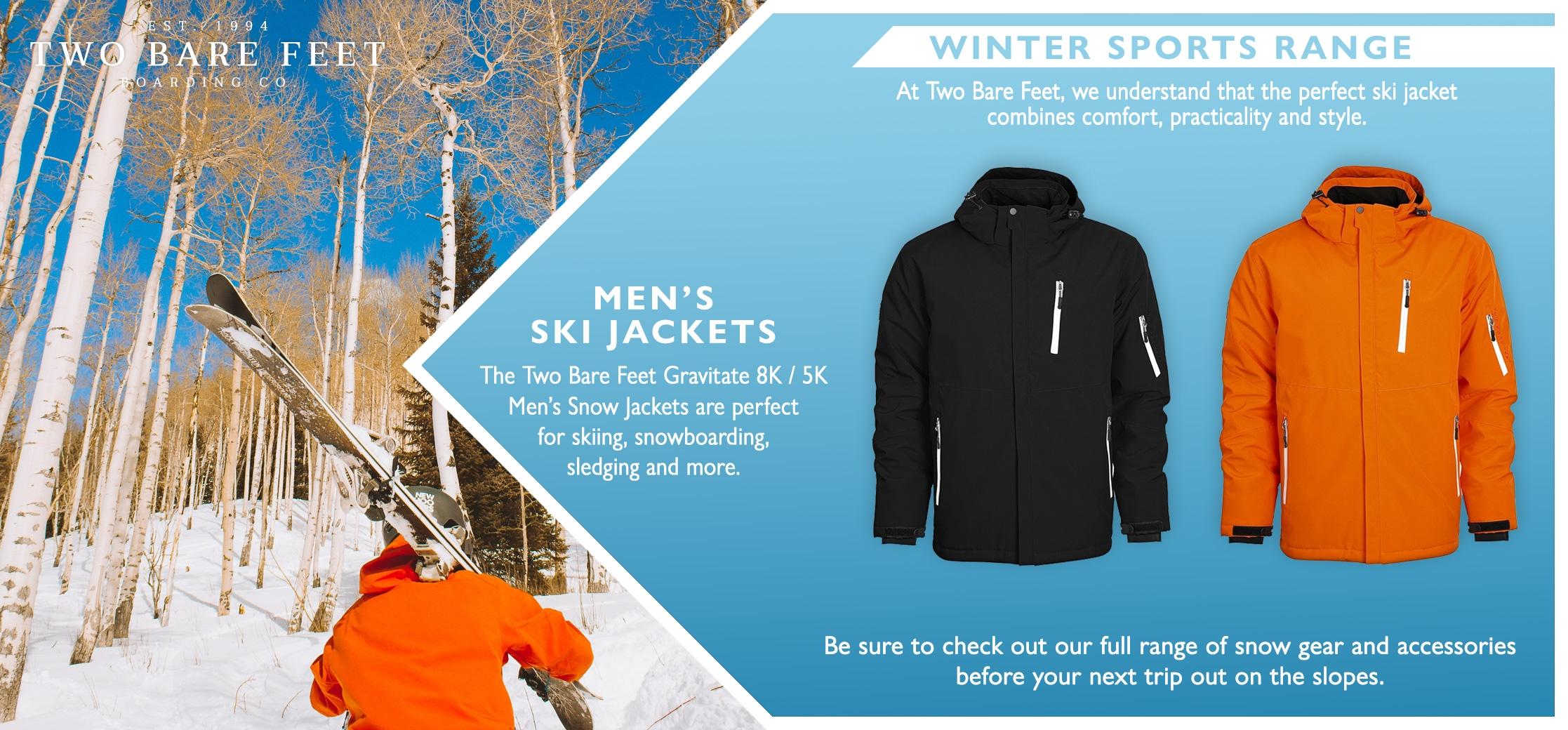 Men's ski jackets and winter sports range