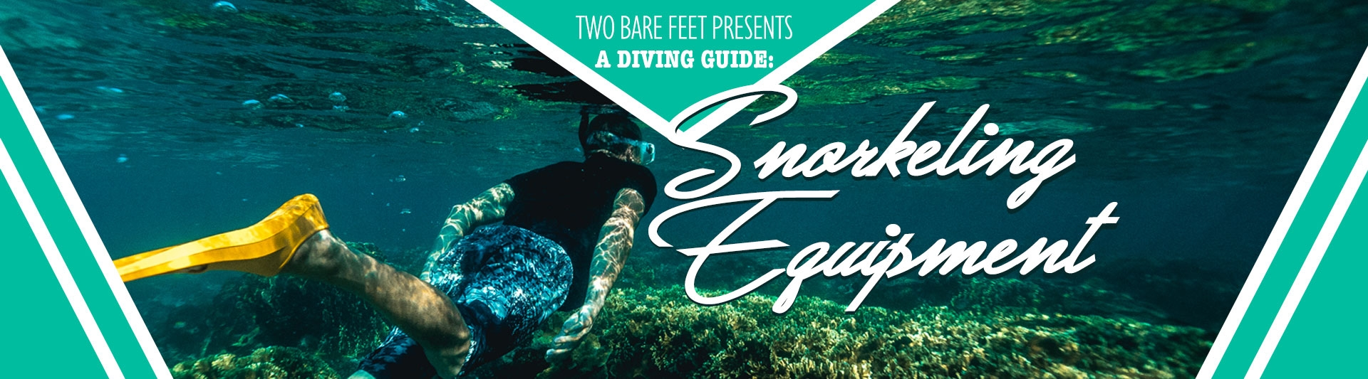 snorkelling equipment banner