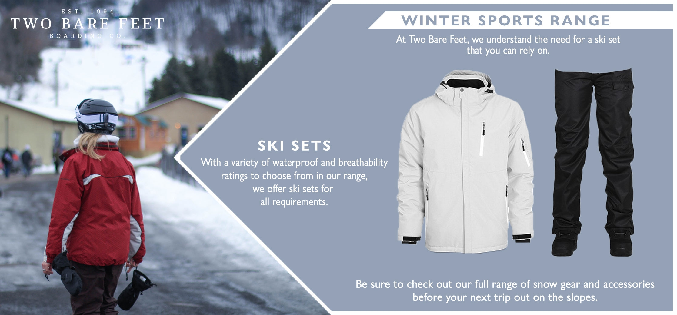 Women's snow jacket and trousers set