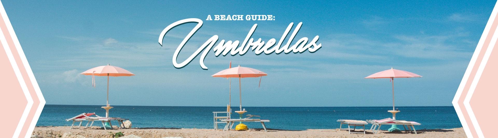 Beach umbrella banner