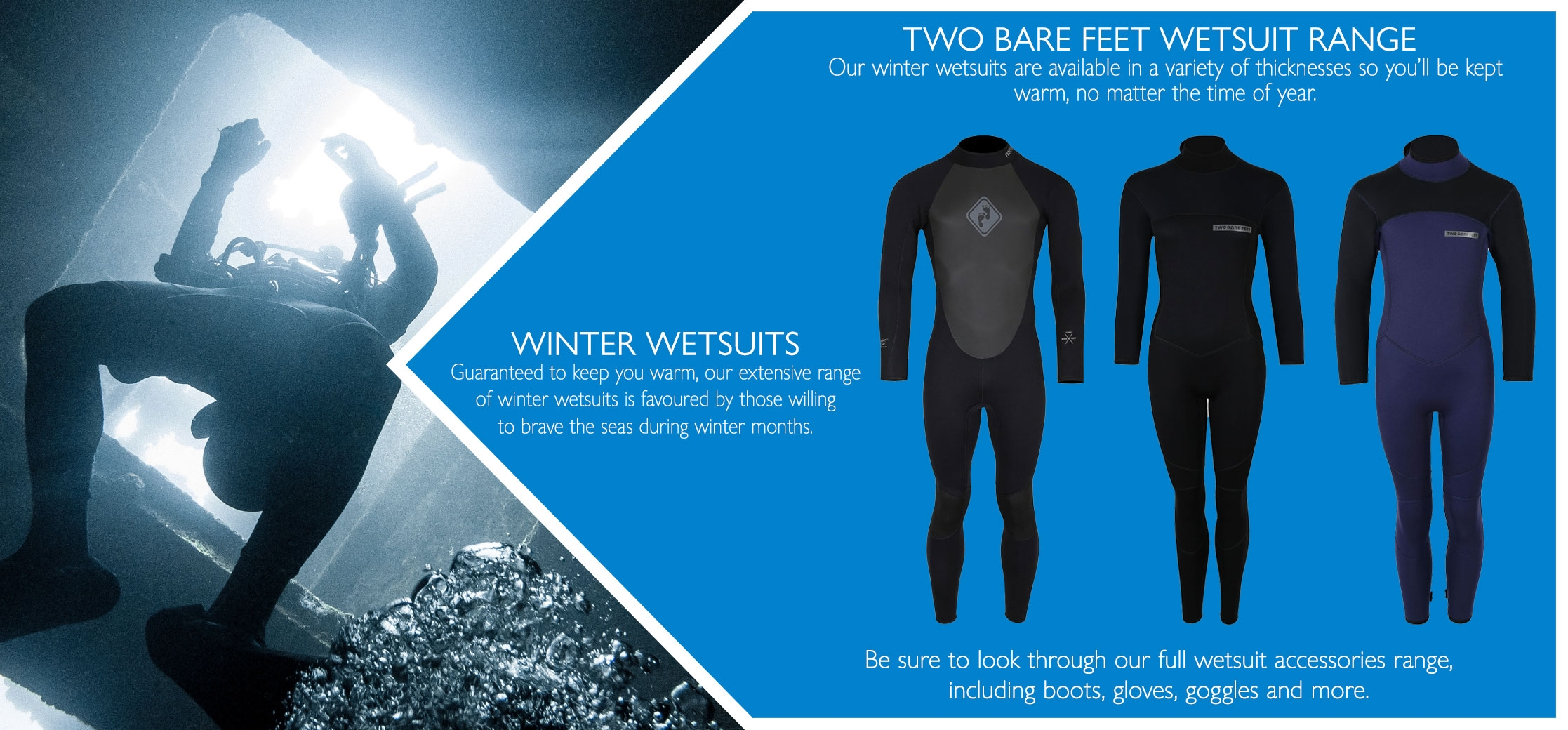 adults and kids winter wetsuits