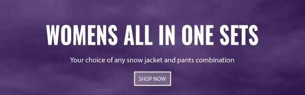 Womens all in one snow gear sets
