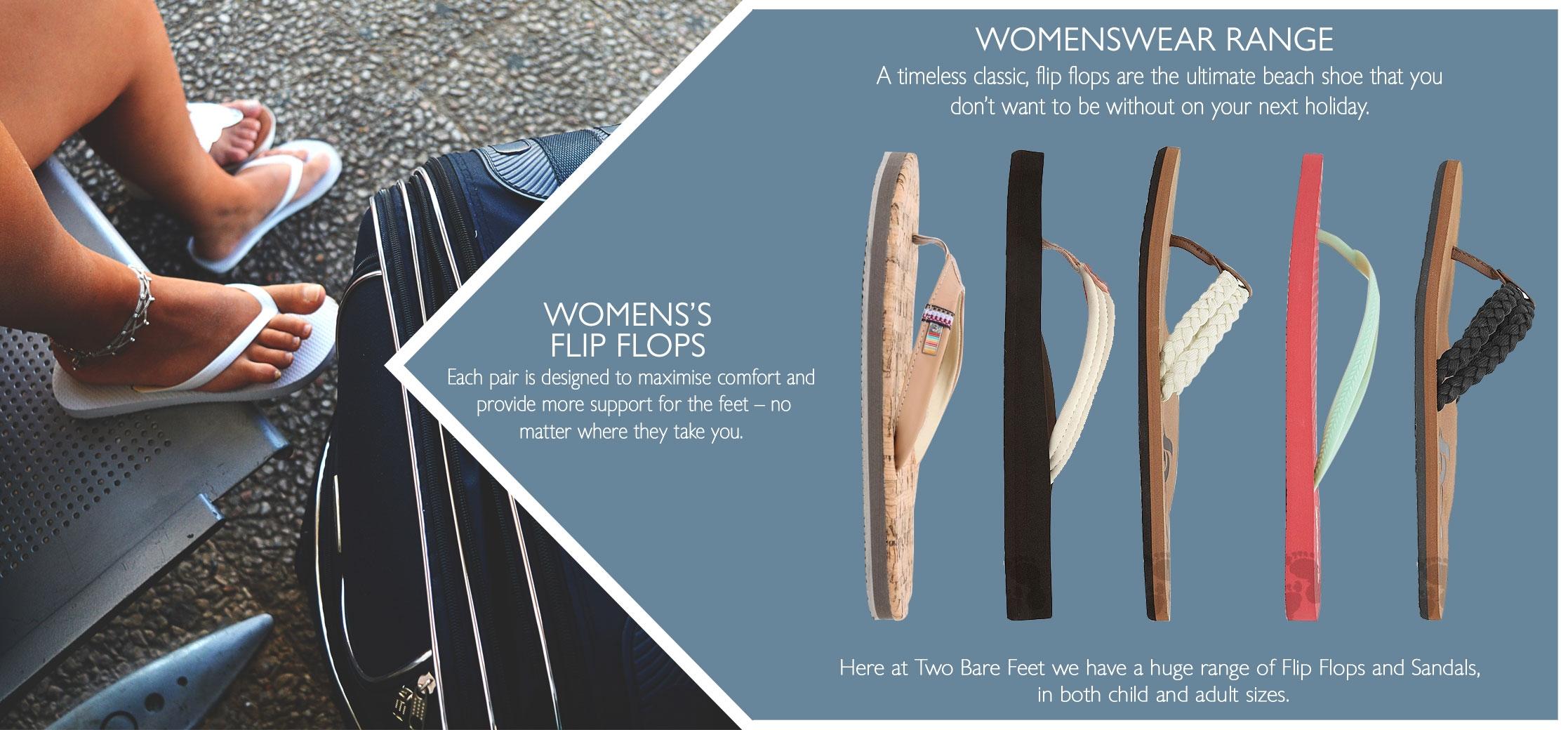 women's flip flops and beach sandals
