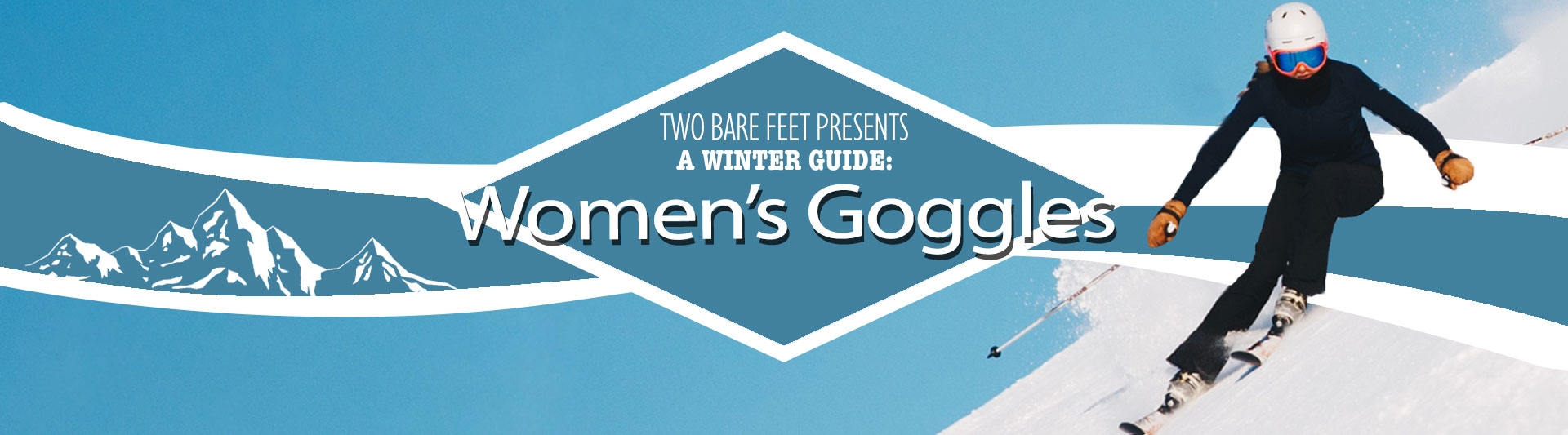Women's snow goggles banner