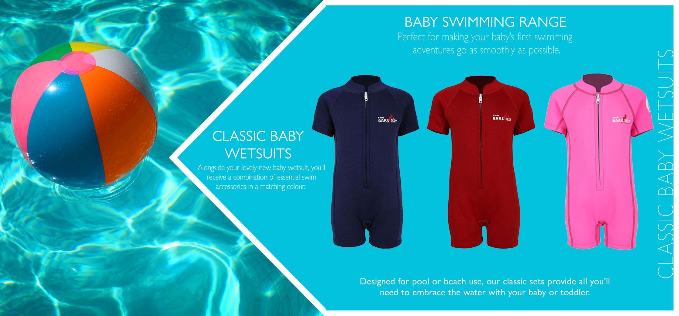 Neoprene classic baby wetsuit set info