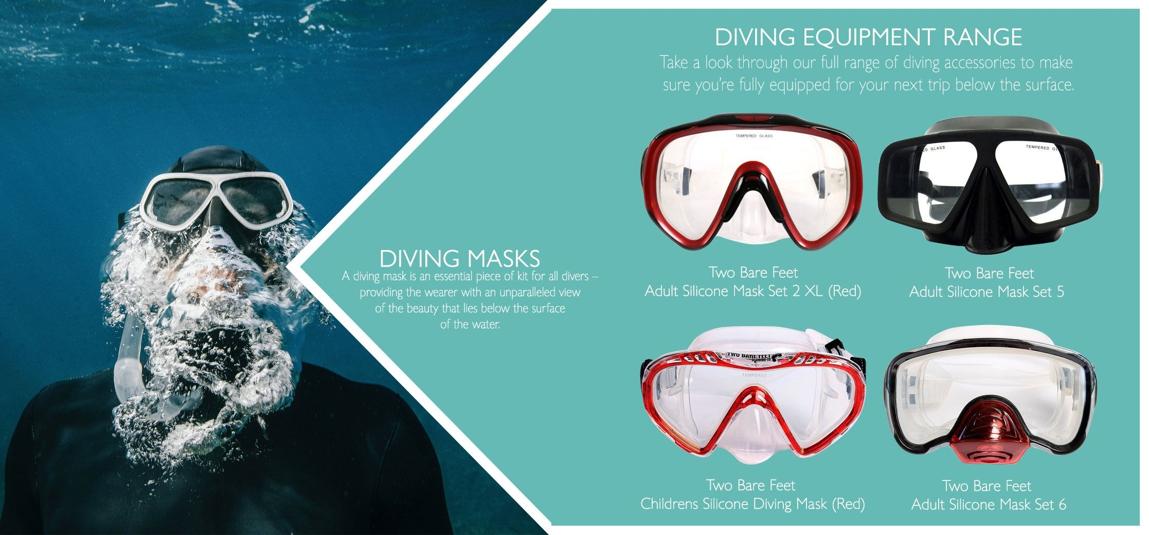 silicone diving mask quide
