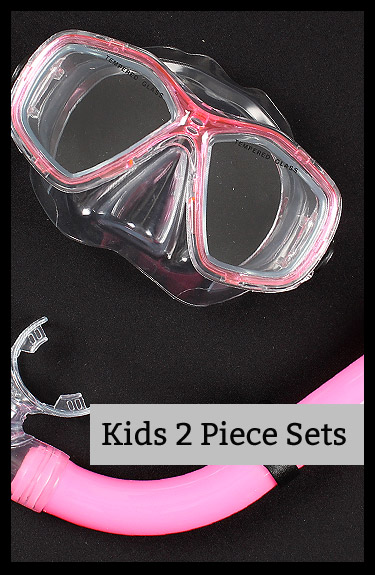 Shop for Kids mask snorkel 2 piece diving sets at Two Bare Feet