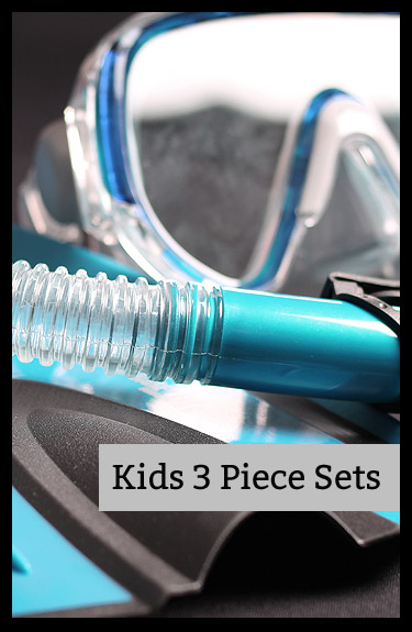 Shop for Kids Mask Snorkel and Fins Sets at Two Bare Feet