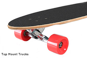 Longboard Trucks - Top Mount Trucks - Skateboarding Two Bare Feet
