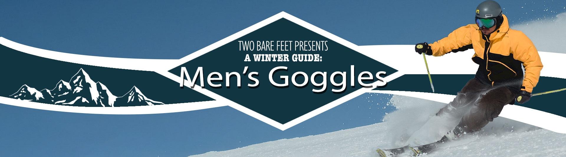 Men's ski goggles banner