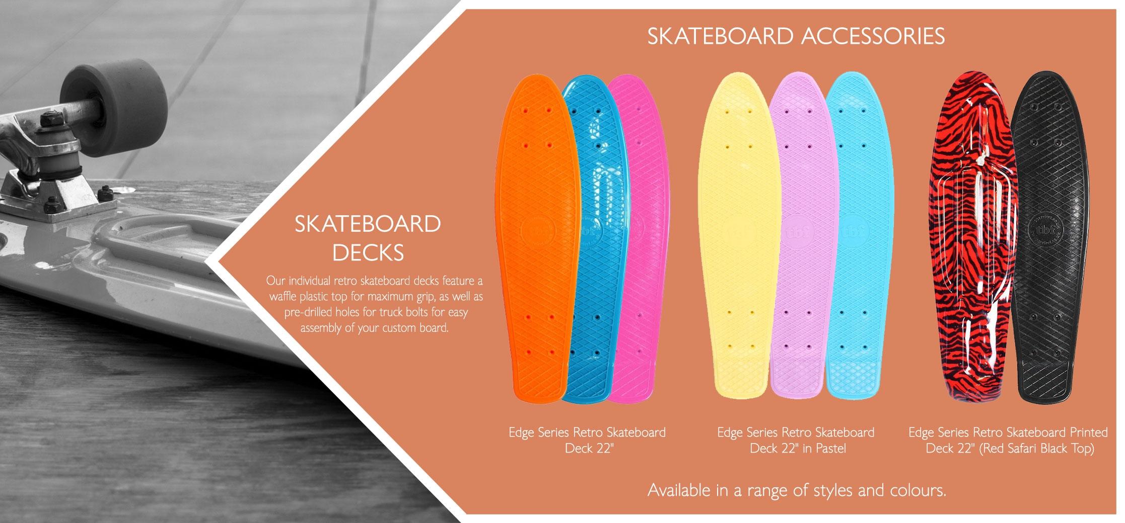 Skateboard decks variations