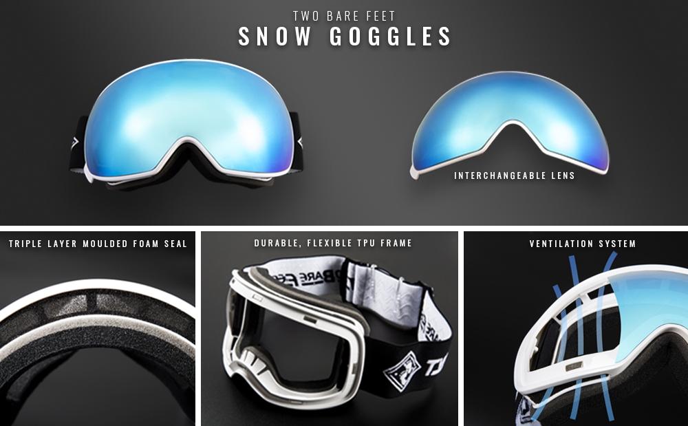 Women's interchangeable ski goggles